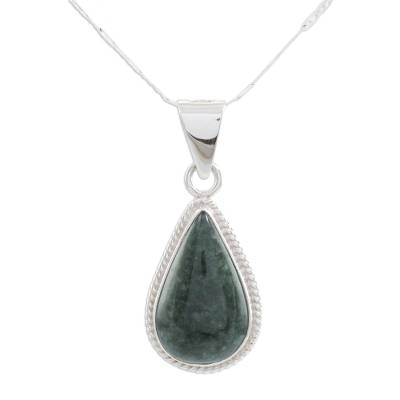 Handmade Guatemalan Jade Pendant Necklace