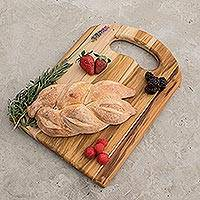 Teakwood cutting board, 'Chef's Delight' - Handmade Wood Cutting Board