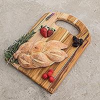 Teakwood cutting board, 'Chef's Delight' - Handmade Wood Cutting Board
