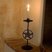 Iron candleholder,