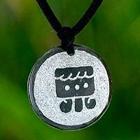 Jade pendant necklace, 'I'x, Maya Femininity' - Handcrafted Jade Pendant Necklace