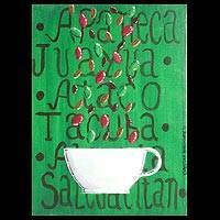 'Coffee from El Salvador' - Modern Central American Painting