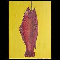 'Catch of the Day' - Original Expressionist Acrylic Painting
