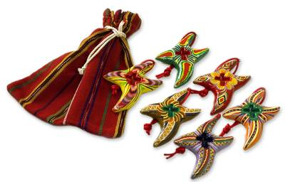 Ceramic ornaments (Set of 6)