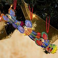 Ceramic ornaments, 'Wishing Angels' (set of 6) - Handcrafted Angel Ceramic Ornaments (Set of 6)