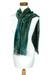 Cotton blend scarf, 'Emerald Dreamer' - Handcrafted Cotton Blend Scarf (image 2c) thumbail