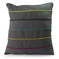 Cotton cushion cover, 'Urban Rainbow' - Cotton cushion cover