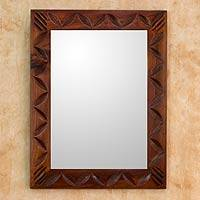 Mirror, 'Highland Dawn' - Central American Contemporary Wood Mirror