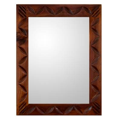 Central American Contemporary Wood Mirror