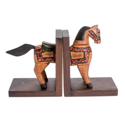 Pinewood bookends (Pair)