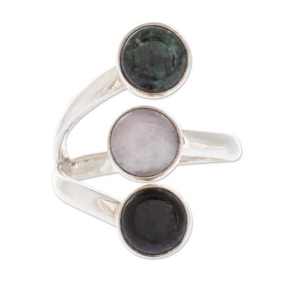 Handmade Sterling Silver Jade Wrap Ring