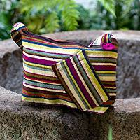 Cotton shoulder bag,  'Colors of My Land' (Guatemala)