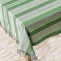 Cotton tablecloth, 'Life in the Forest' - Cotton tablecloth