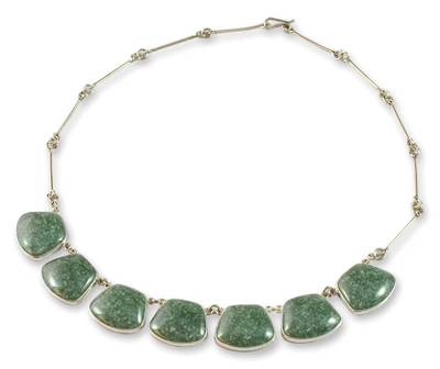 Handcrafted Sterling Silver Jade Necklace