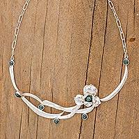 Jade flower necklace,