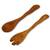 Cedar salad serving set, 'Forest Whisper' (pair) - Collectible Wood Salad Serving Set (image 2a) thumbail