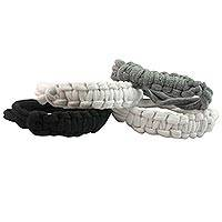 Cotton wristband bracelets, 'Trendsetter Combo' (set of 4) - Cotton wristband bracelets (Set of 4)
