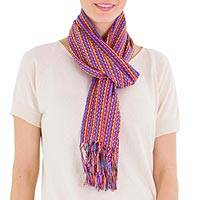Cotton scarf, 'Party Days' - Cotton scarf