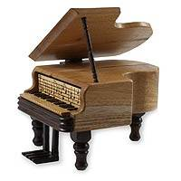 Mahogany puzzle box, 'Baby Grand Piano' - Hand Made Central American Wood Puzzle Decorative Box