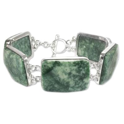 Jade link bracelet