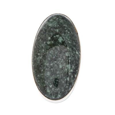 Jade cocktail ring