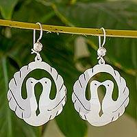 Sterling silver dangle earrings, 'Love Eternal' - Sterling Silver Dangle Earrings