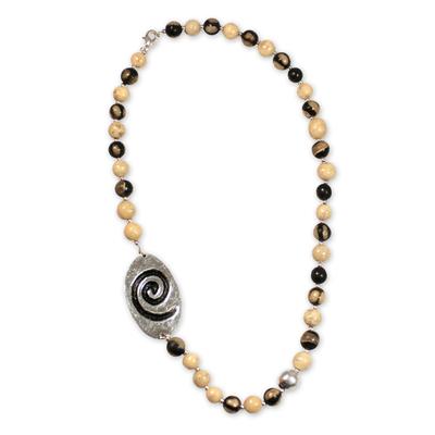 Ceramic beaded necklace