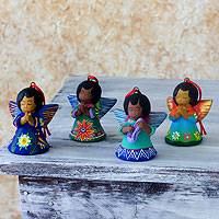 Ceramic ornaments, Angels of the Forest (set of 4)