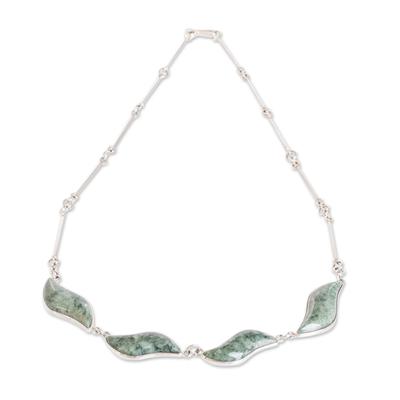 Fair Trade Sterling Silver Pendant Jade Necklace