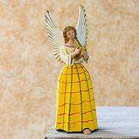 Ceramic figurine, 'Angel from San Pedro Sacatepequez' - Ceramic figurine