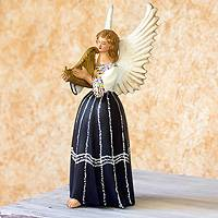 Ceramic figurine, 'Angel from Coban' - Ceramic figurine