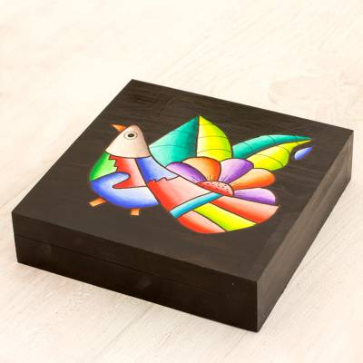 Wood decorative box, Cheerful Bird