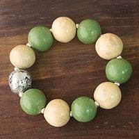Ceramic stretch bracelet,