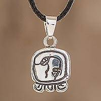 Sterling silver pendant necklace, 'Wise Nahual' - Sterling silver pendant necklace