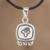 Sterling silver pendant necklace, 'Life Nahual' - Sterling silver pendant necklace thumbail