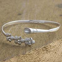Sterling silver flower bracelet, 'Solola Bouquet' - Sterling silver flower bracelet