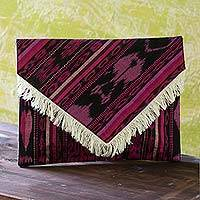 Cotton clutch handbag,