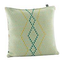 Cotton cushion cover, 'Diamond Honeycomb' - Embroidered Cotton Cushion Cover