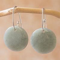 Jade dangle earrings, 'Maya Moonlight'