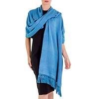 Cotton shawl, 'Rain in the Country' - Handwoven Cotton Shawl from Guatemala