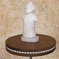 Marble sculpture, 'Our Ancestors' - Pre-Hispanic Central American Hand Carved Stone Sculpture