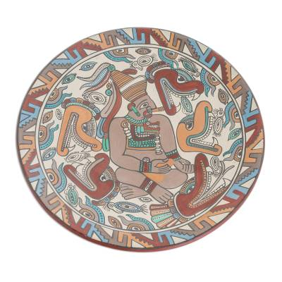 Archaeological Replica Handcrafted Ceramic Plate