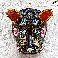 Wood mask, 'Brown Dog' - Guatemala Brown Dog Folk Dance Mask