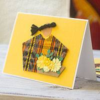 Greeting cards, 'Sacatepequez Florist' (set of 4) - Handcrafted All Purpose Greeting Cards Envelopes (set of 4)