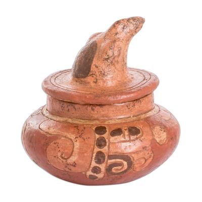 Antiqued Ceramic Bowl Maya Art