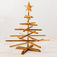 Wood Christmas tree, 'Nature's Holiday' - Handcrafted Wood Christmas Tree Assembly Required