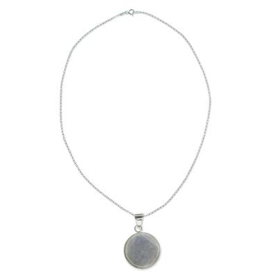 Maya Eclipse Pendant Lilac Jade on Silver Jewelry Lge