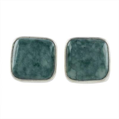 Jade Jewelry Artisan Crafted Earrings