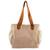 Cotton tote handbag, 'Cocoa Bean' - Handwoven Natural Tan Cotton Tote Handbag thumbail