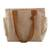 Cotton tote handbag, 'Cocoa Bean' - Handwoven Natural Tan Cotton Tote Handbag (image 2d) thumbail